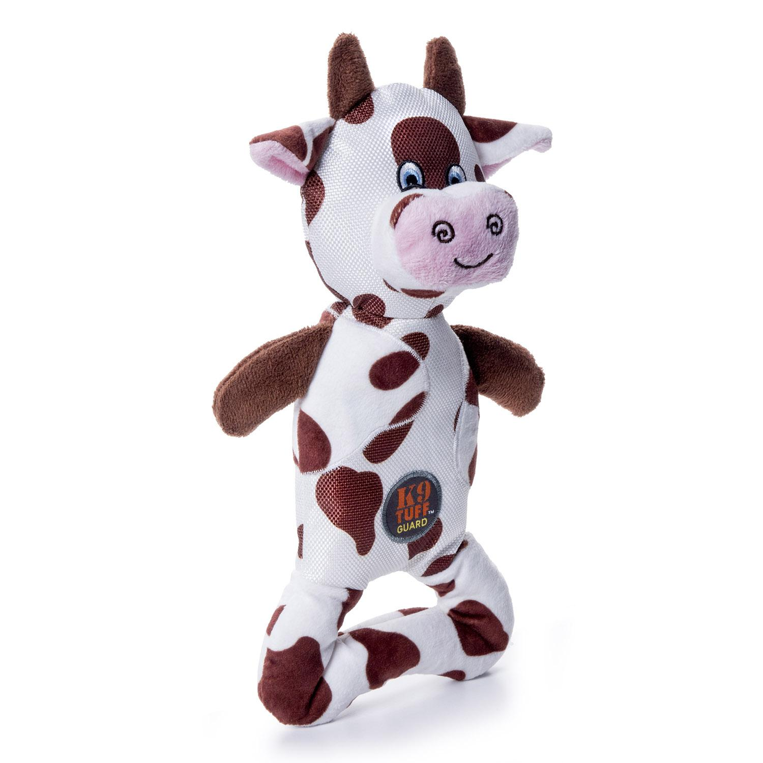 Charming Pattern Patches Durable Dog Toy - Brown Cow