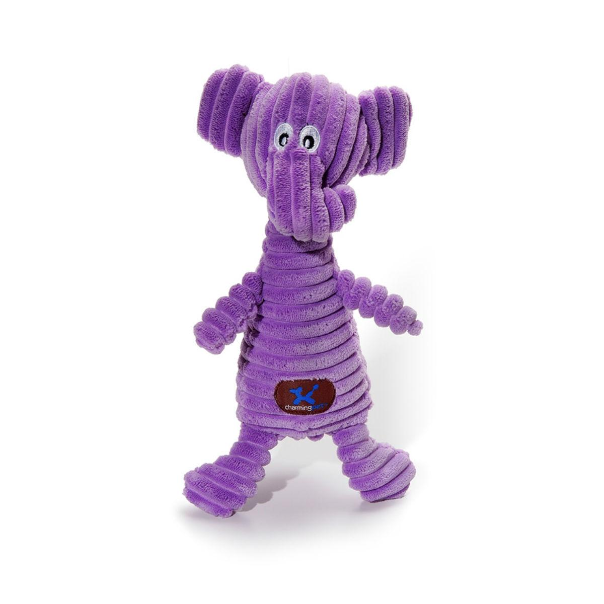 Charming Squeakin' Squiggles Dog Toy - Elephant