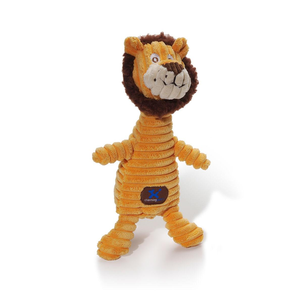 Charming Squeakin' Squiggles Dog Toy - Lion