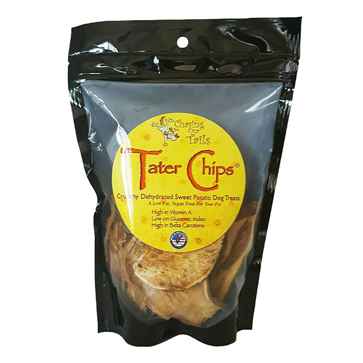 Chasing Our Tails Dehydrated Sweet Potato Dog Treats - Tater Chips