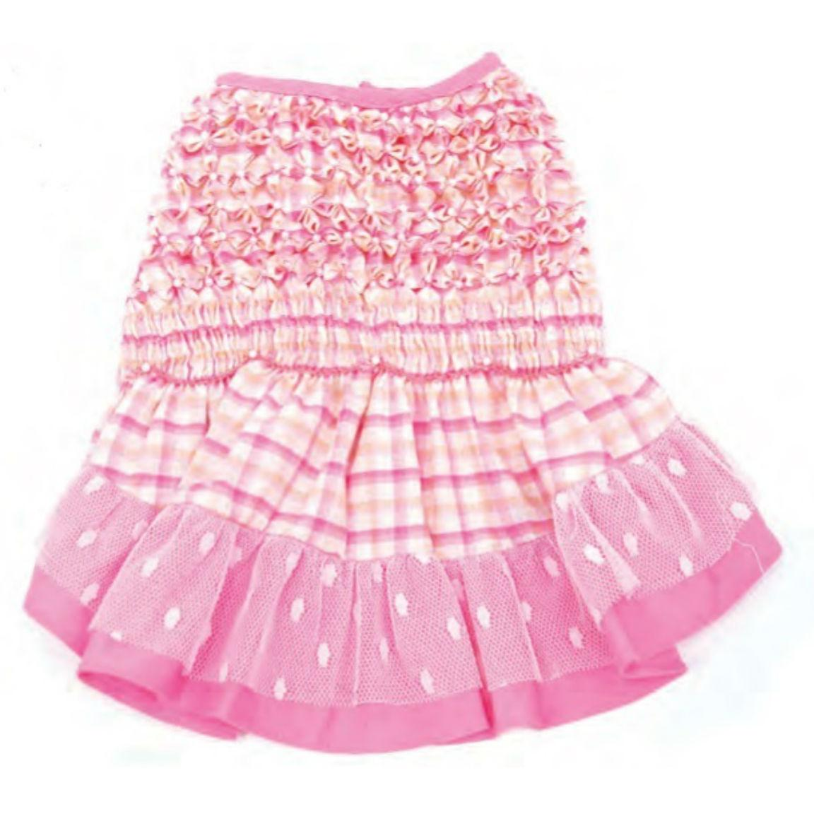 Check Please Hand Smocked Dog Dress By Oscar Newman
