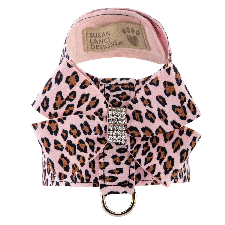 Cheetah Couture Nouveau Bow Tinkie Dog Harness by Susan Lanci - Pink Cheetah