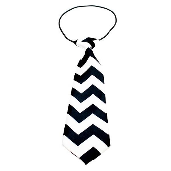 Chevron Big Dog Neck Tie - Black
