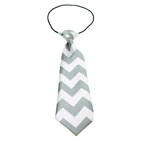 Chevron Big Dog Neck Ties - Gray