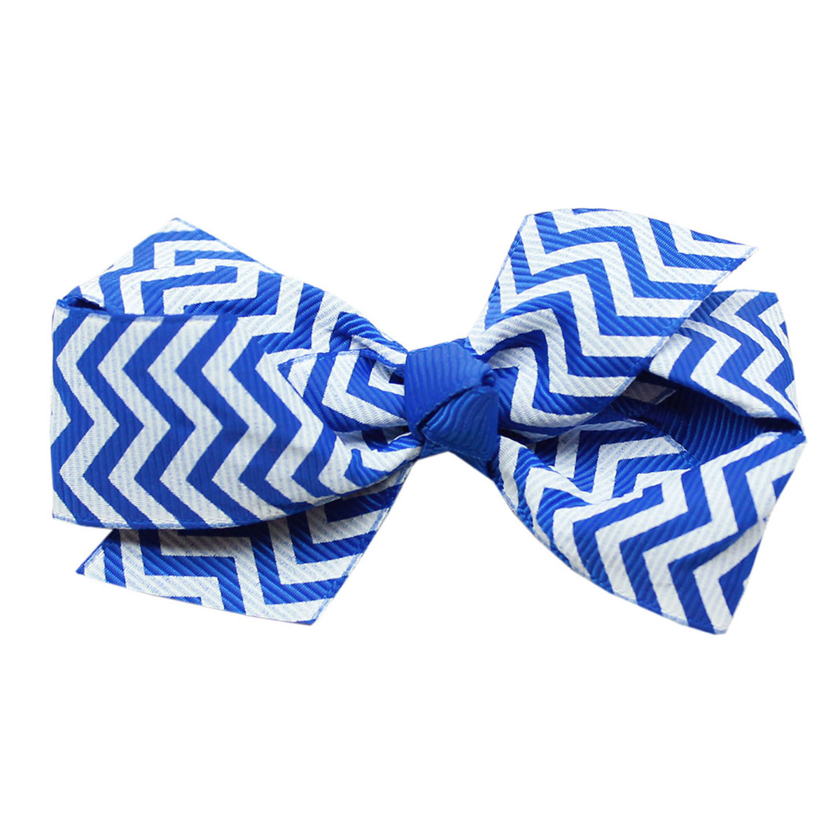 Chevron Dog Bow - Blue