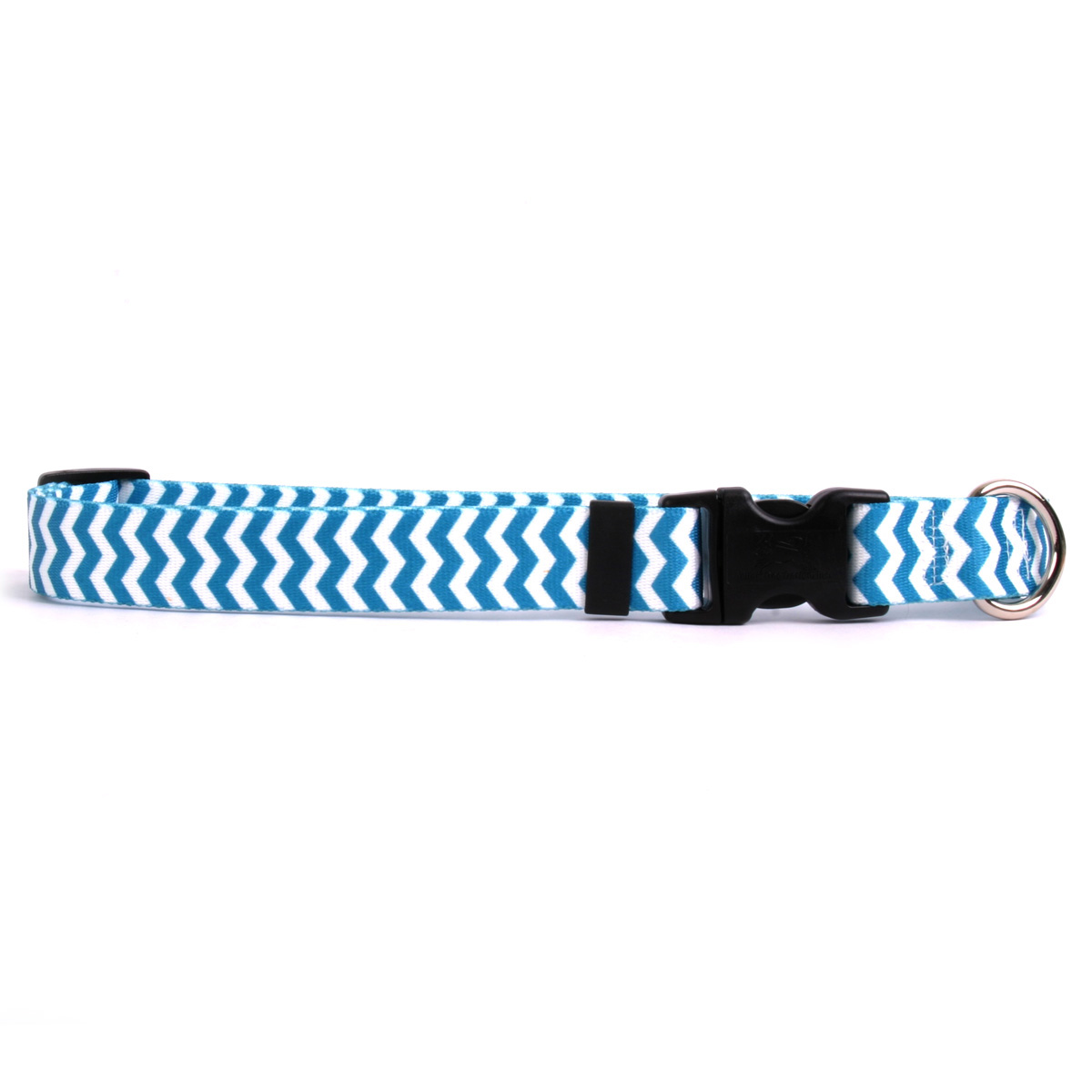 Chevron Dog Collar by Yellow Dog - Blueberry