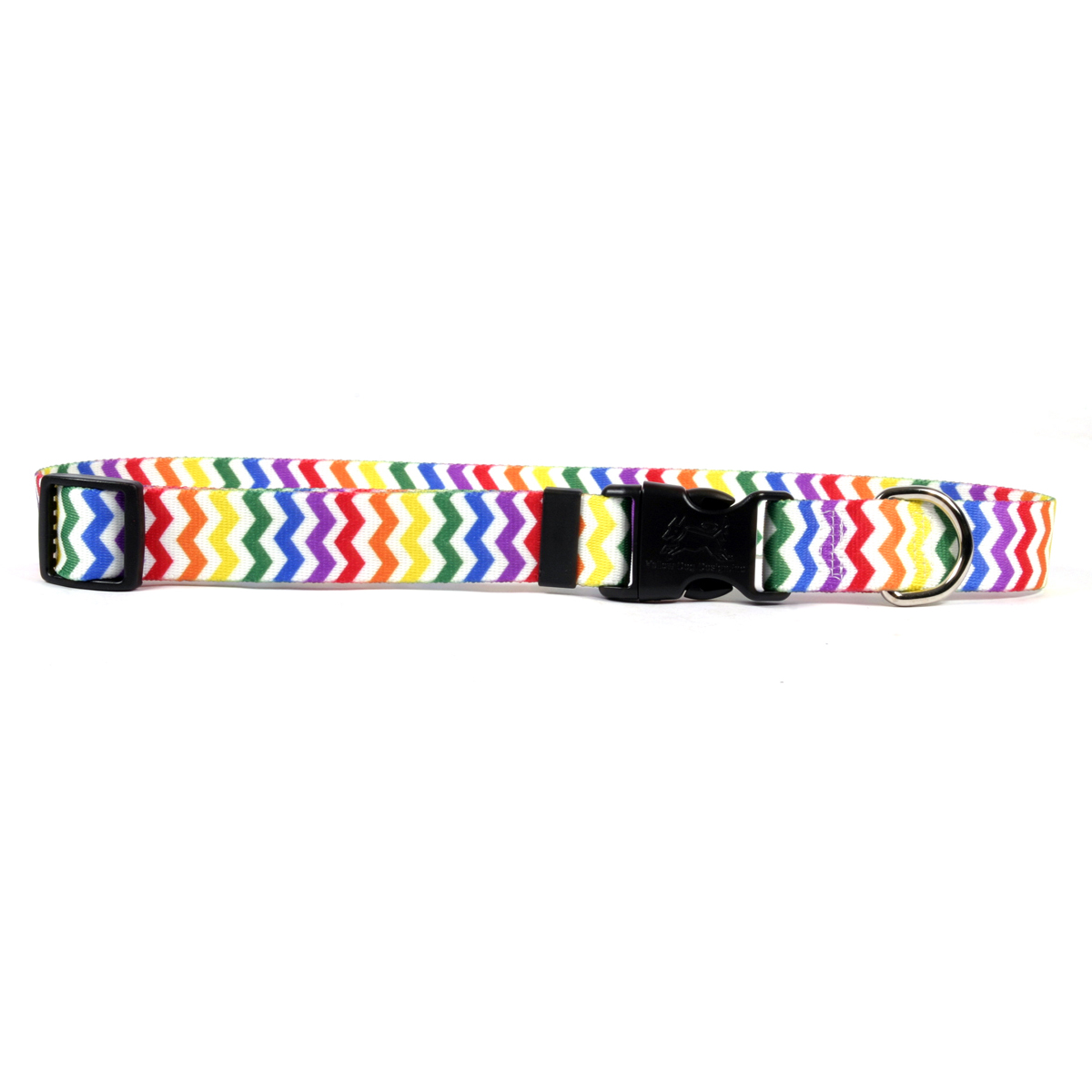 Chevron Dog Collar by Yellow Dog - Candy Stripe