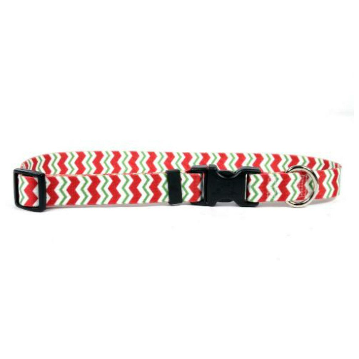 Chevron Dog Collar by Yellow Dog - Peppermint