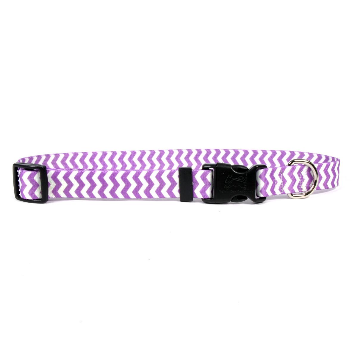 Chevron Dog Collar by Yellow Dog - Grape