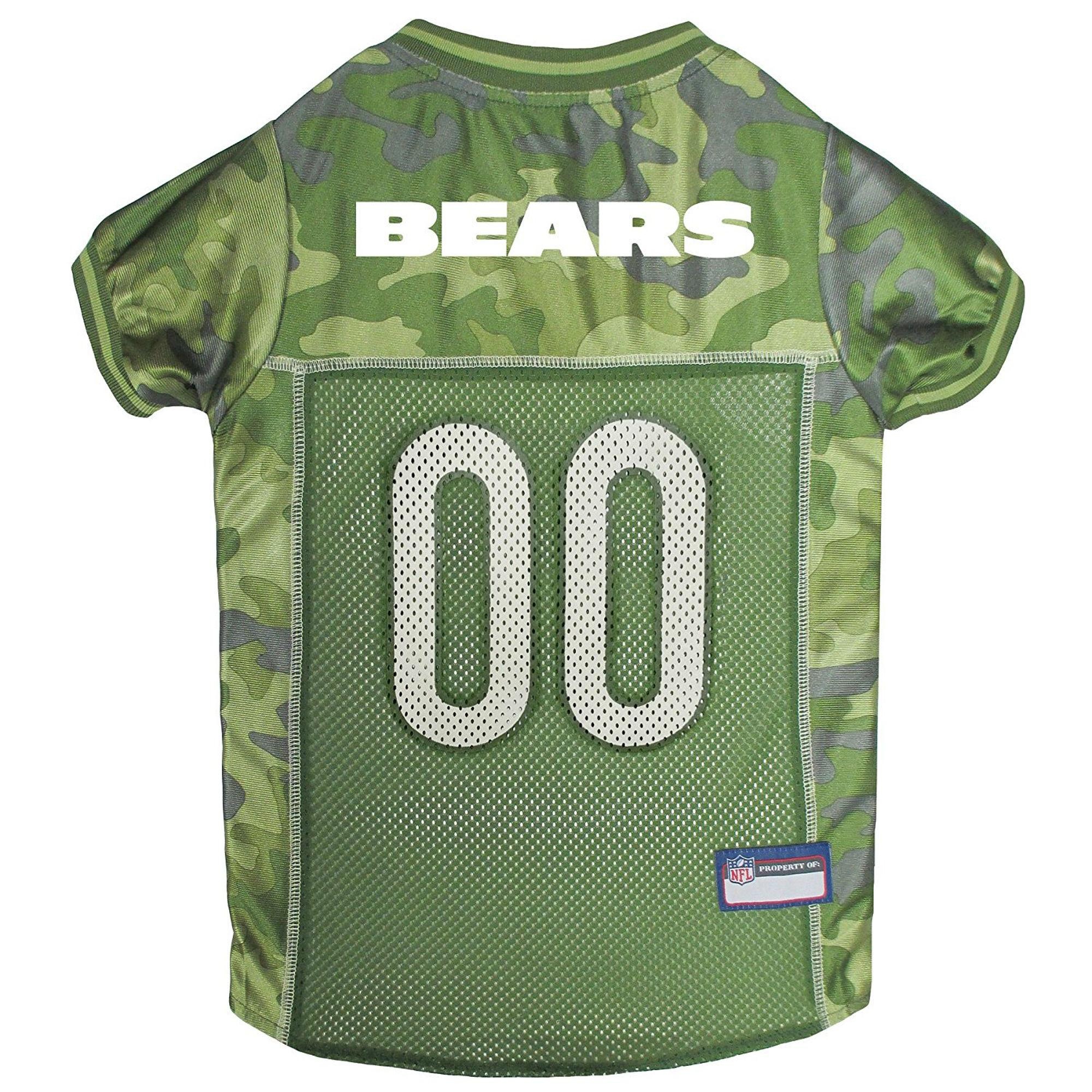 Chicago Bears Dog Jersey - Camo