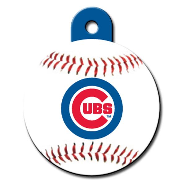 Chicago Cubs Engravable Pet I.D. Tag - Circle