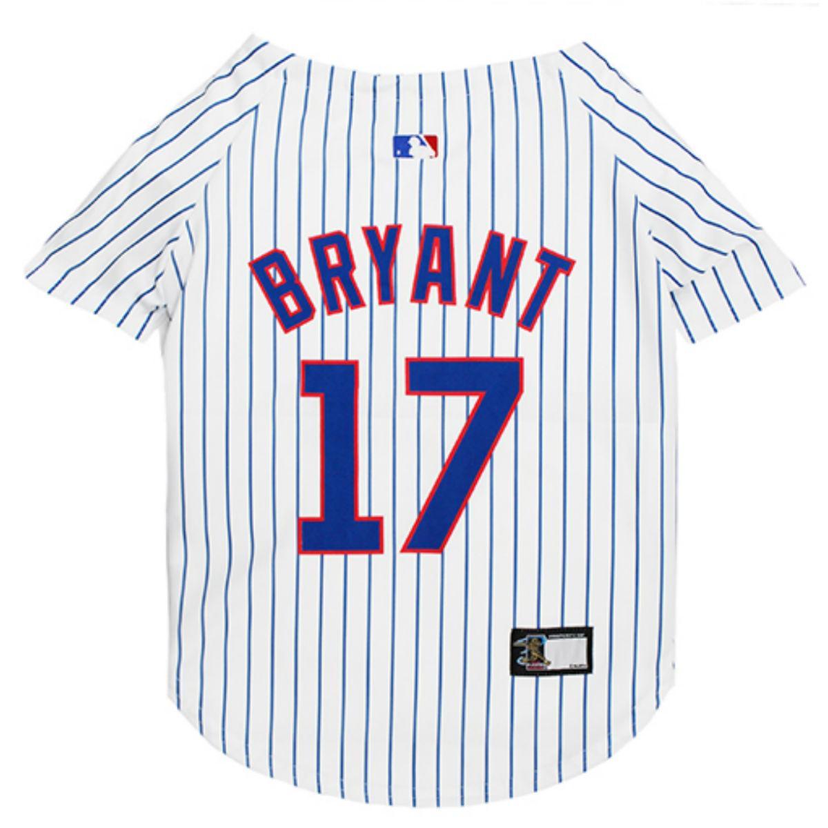 Chicago Cubs Kris Bryant Dog Jersey - Pinstripe