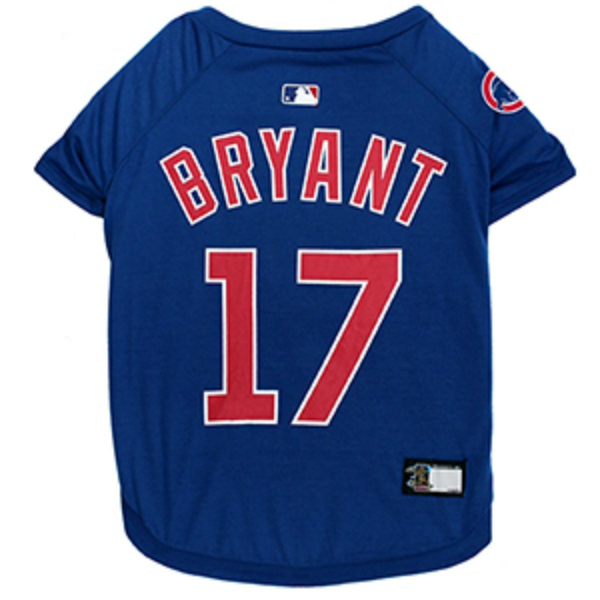 newest 3c3a8 36f21 Chicago Cubs Kris Bryant Dog T-Shirt - Blue