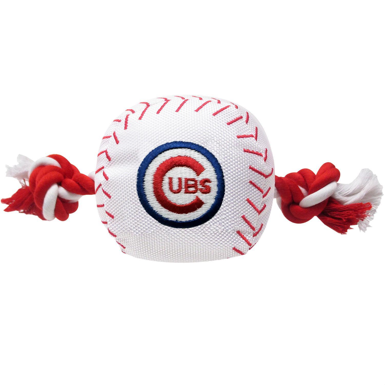 Chicago Cubs Nylon Plush Baseball Rope Dog Toy