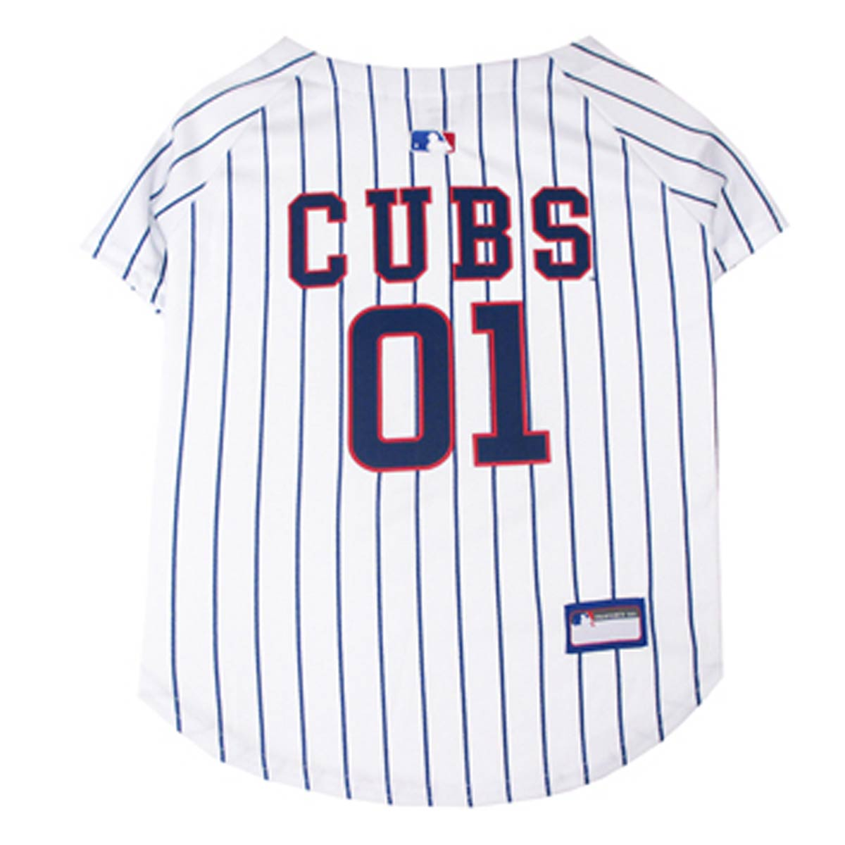 new styles c7190 ac6ad Chicago Cubs Officially Licensed Dog Jersey - Pinstripe