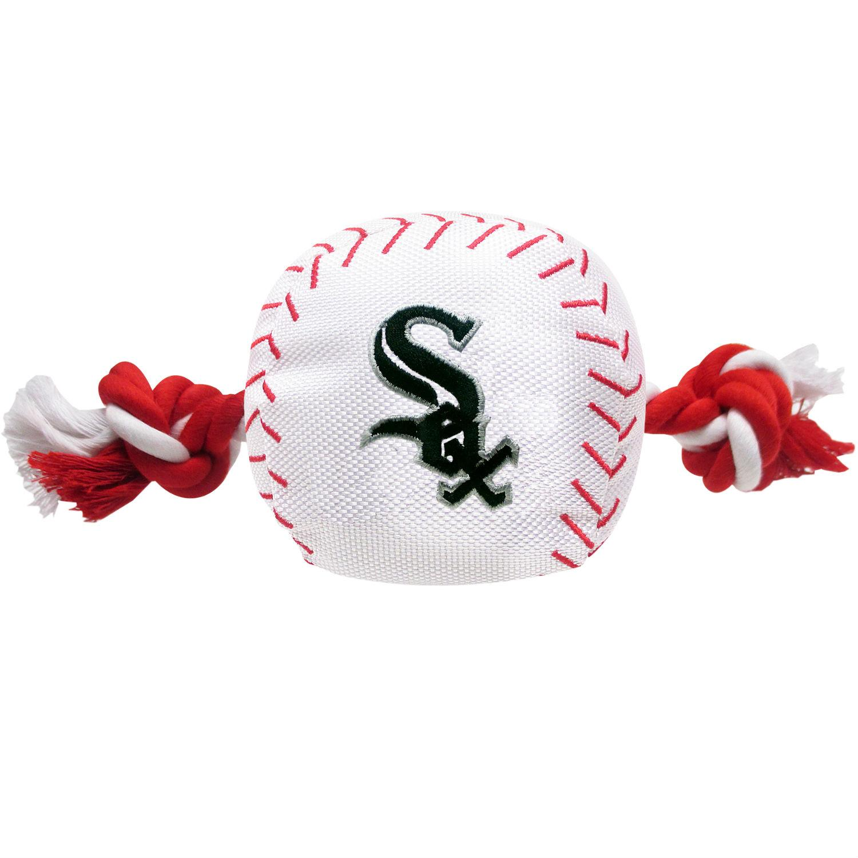 Chicago White Sox Nylon Plush Baseball Rope Dog Toy
