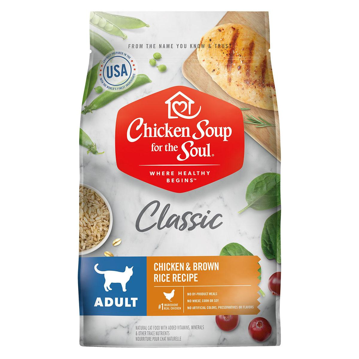 Chicken Soup for the Soul Classic Adult Dry Cat Food - Chicken & Brown Rice