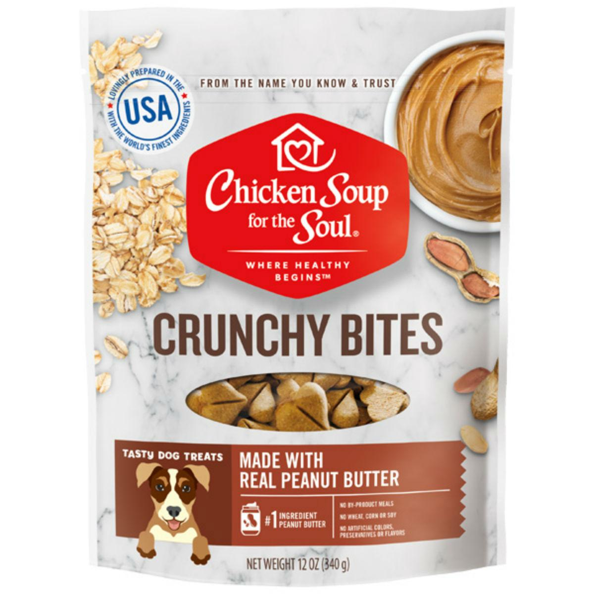 Chicken Soup for The Soul Crunchy Bites Dog Treats - Peanut Butter