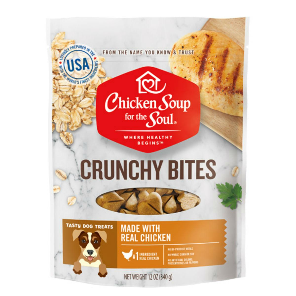 Chicken Soup for The Soul Crunchy Bites Dog Treats - Chicken