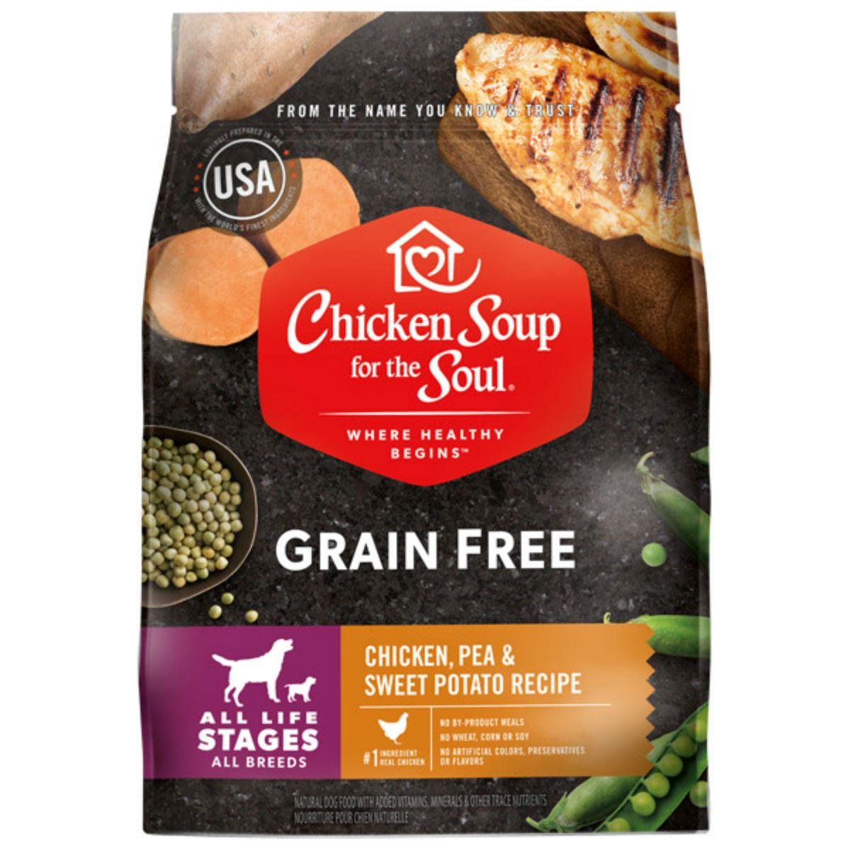Chicken Soup for the Soul Grain Free All Life Stages Dog Food - Chicken, Pea & Sweet Potato Recipe