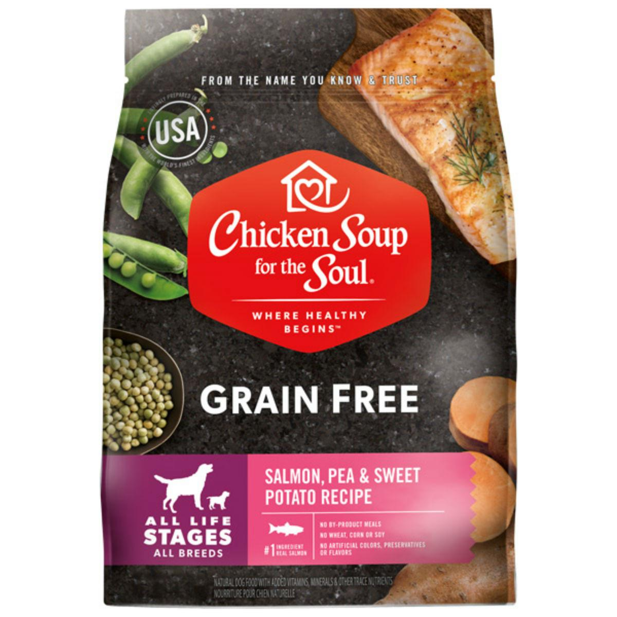 Chicken Soup for the Soul Grain Free All Life Stages Dog Food - Salmon, Pea & Sweet Potato Recipe