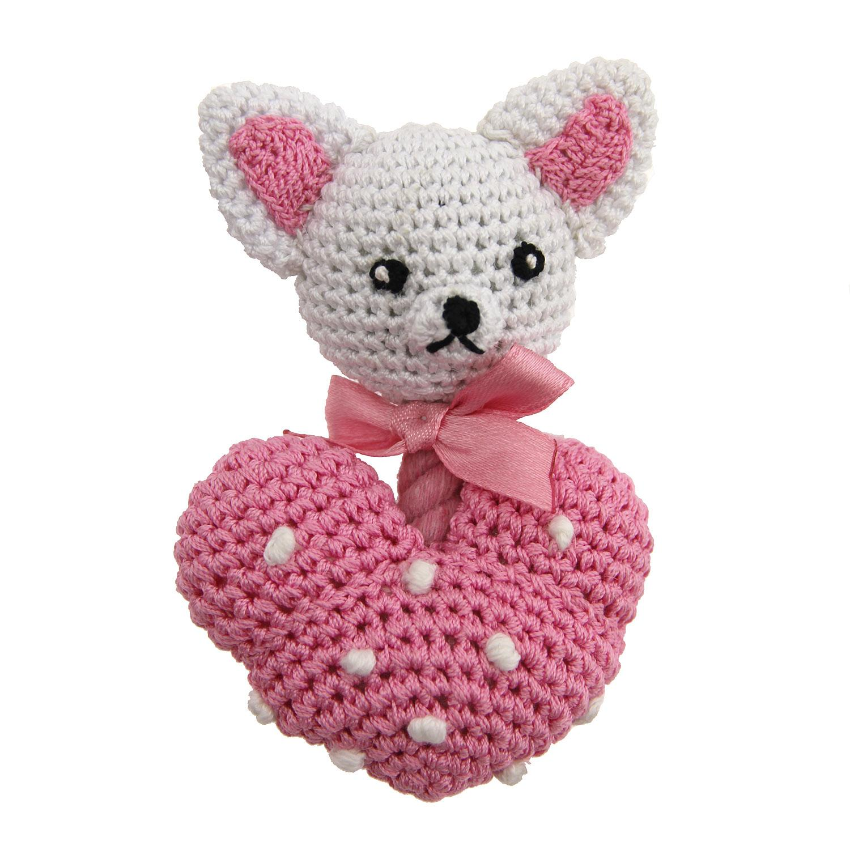 Chihuahua Heart Crochet Dog Toy