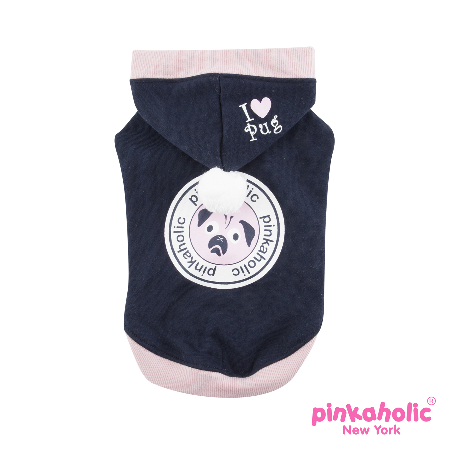Chiquito Dog Hoodie by Pinkaholic - Navy