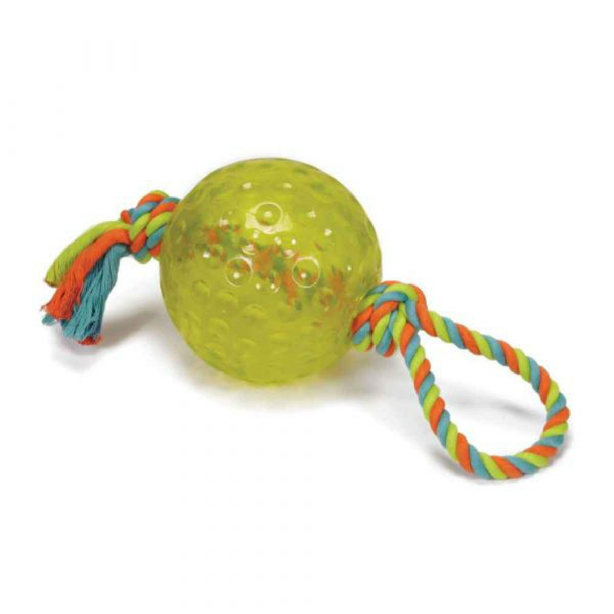 Chomper TPR Ball with Rope Dog Toy