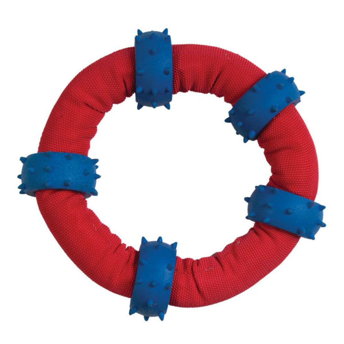 Chomper Gladiator Tuff Nylon Toss-and-Tug Ring Dog Toy