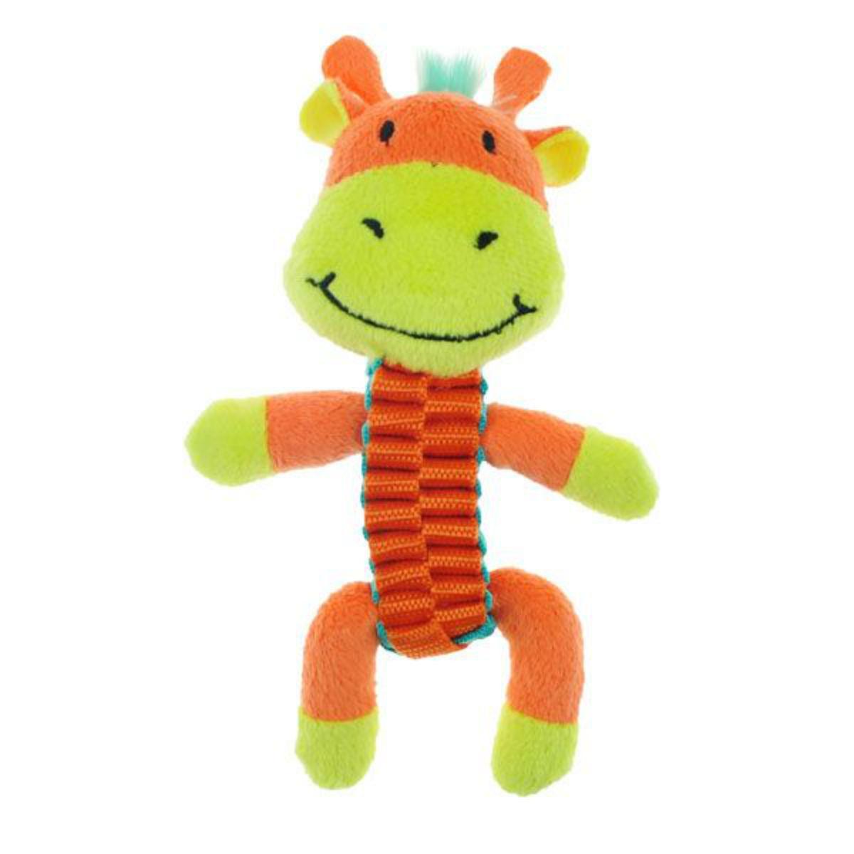 Chomper Mini Ballistic Twist Safari Pals Dog Toy - Giraffe