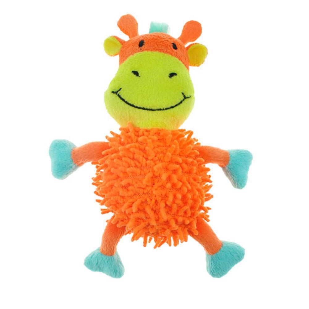Chomper Mini Moppy Safari Pals Dog Toy - Giraffe