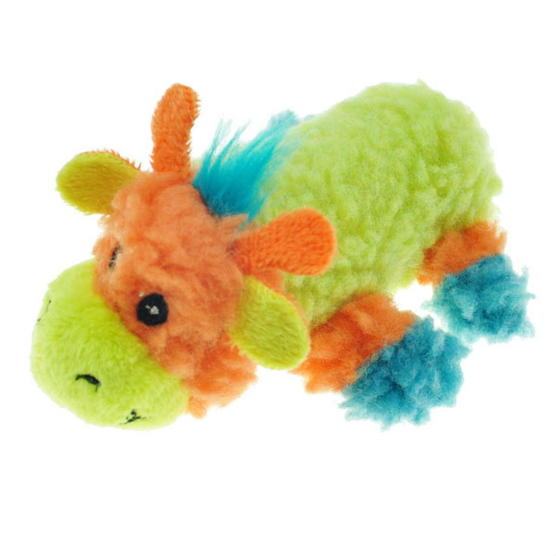 Chomper Mini Sherpa Fleecy Friends Dog Toy - Giraffe