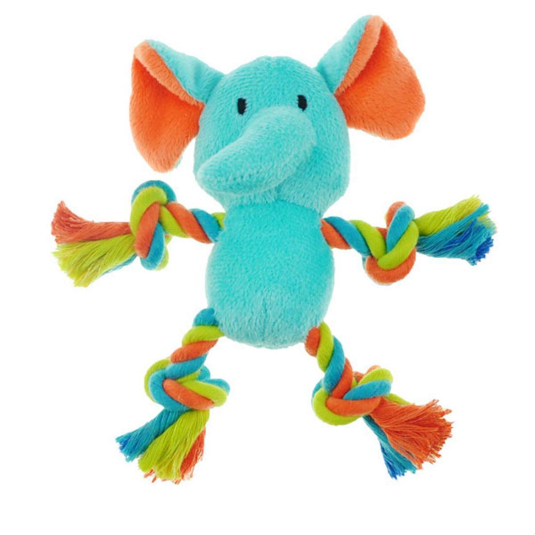 Chomper Mini Safari Tug Me Dog Toy - Elephant