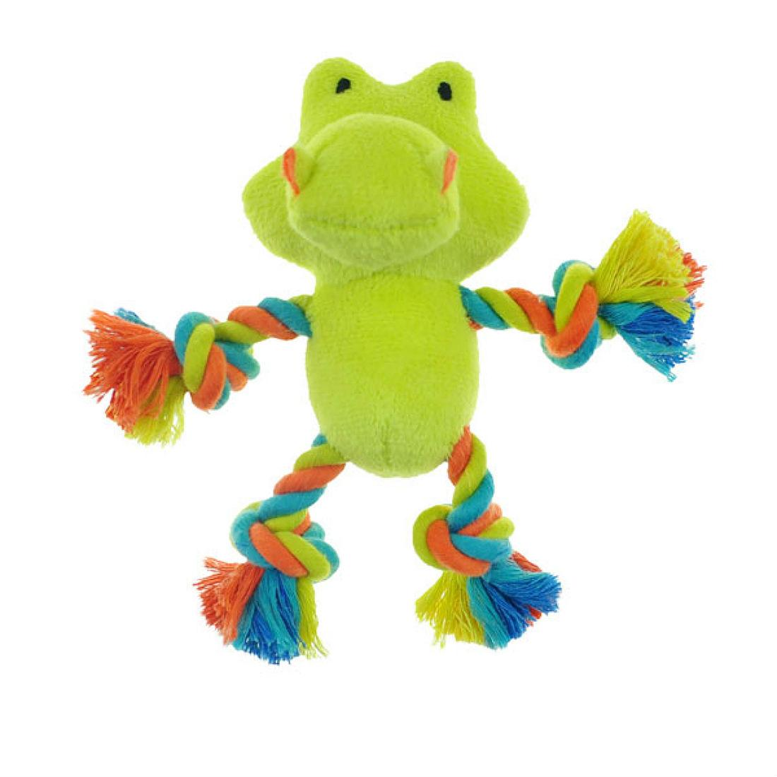 Chomper Mini Safari Tug Me Dog Toy - Gator