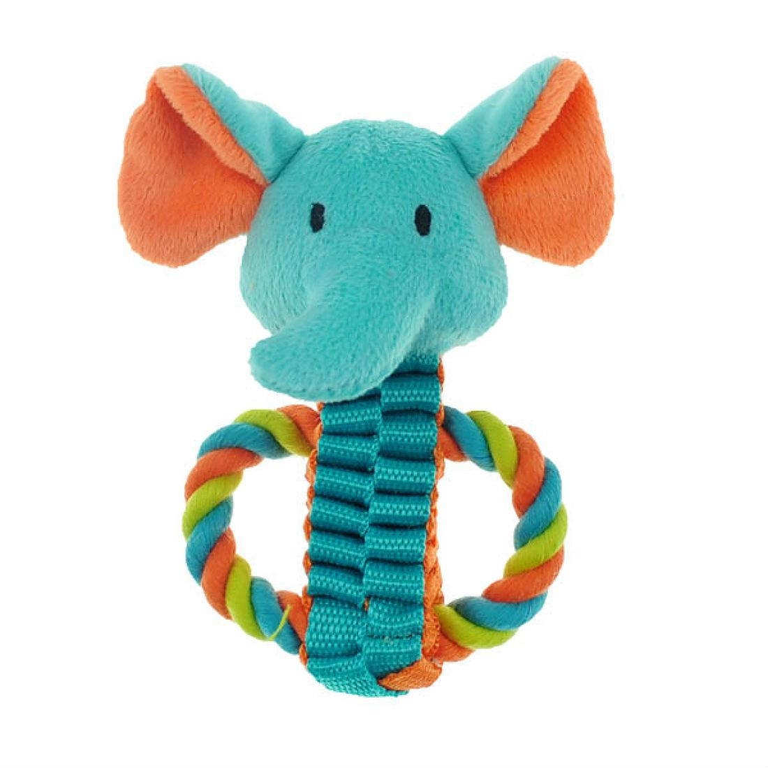 Chomper Mini Safari Tug Pals Dog Toy - Elephant