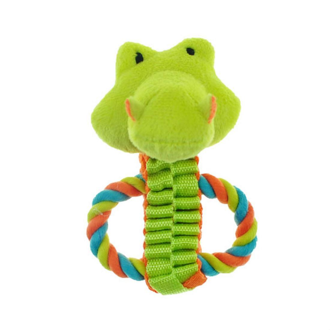 Chomper Mini Safari Tug Pals Dog Toy - Gator