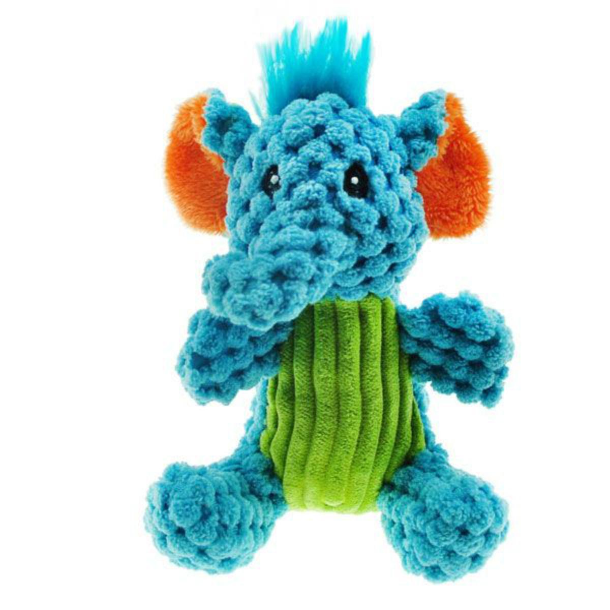 Chomper Mini Corduroy Safari Pals Dog Toy - Elephant