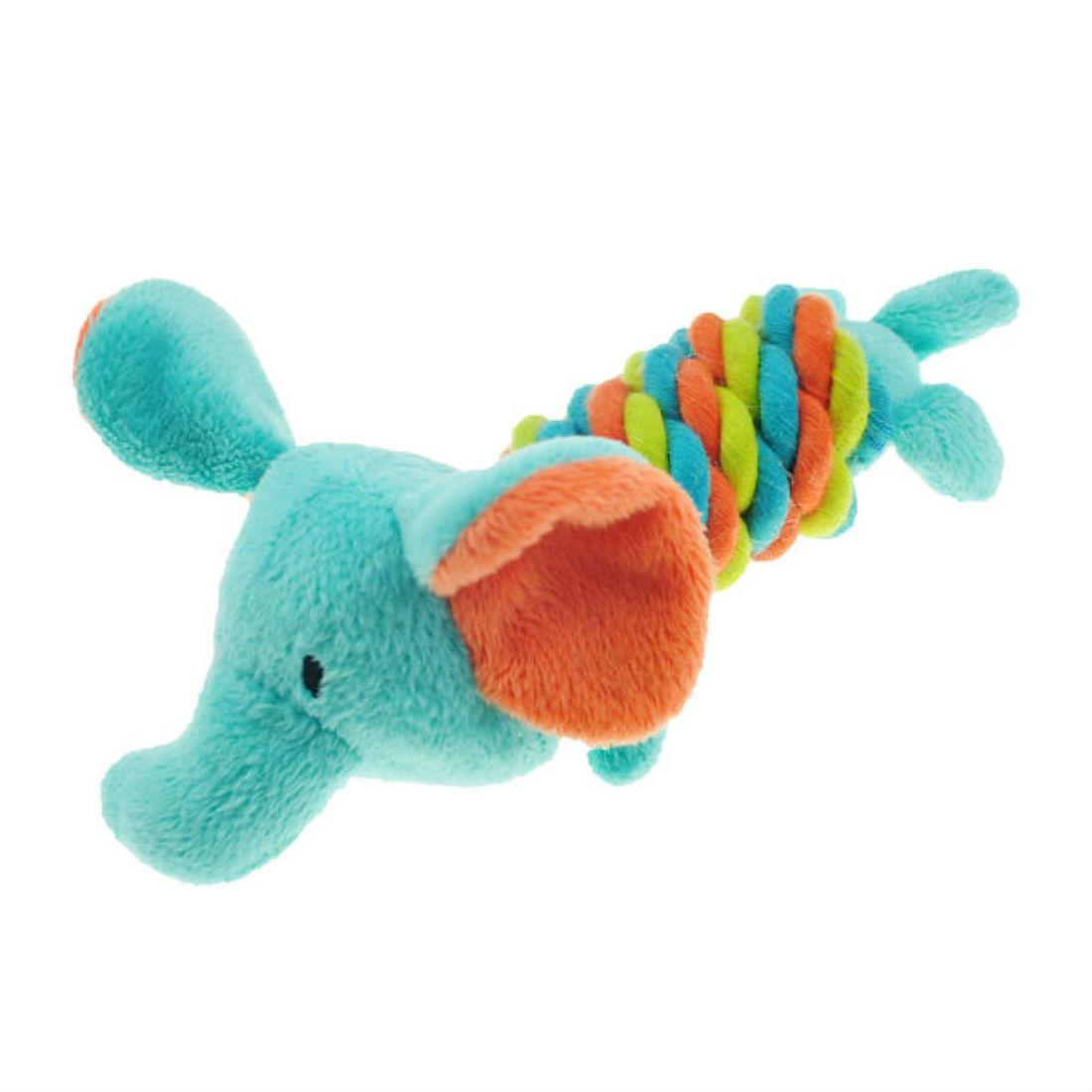 Chomper Mini Safari Twisties Dog Toy - Elephant