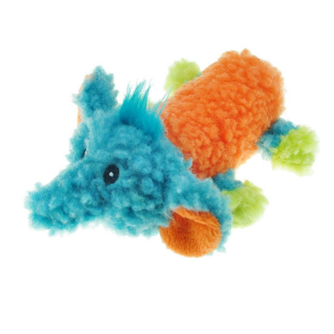 Chomper Mini Sherpa Fleecy Friends Dog Toy - Elephant