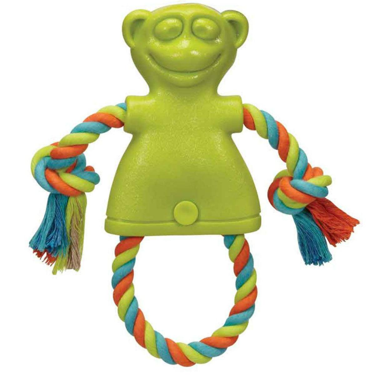 Chomper TPR Monkey with Rope Dog Toy