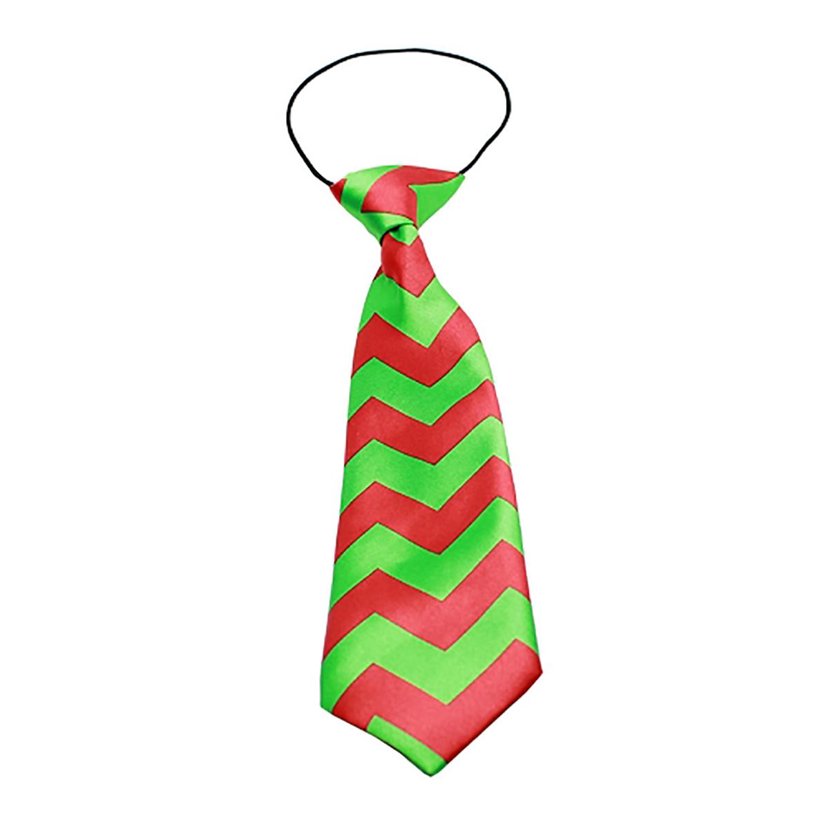 Christmas Chevron Big Dog Neck Tie