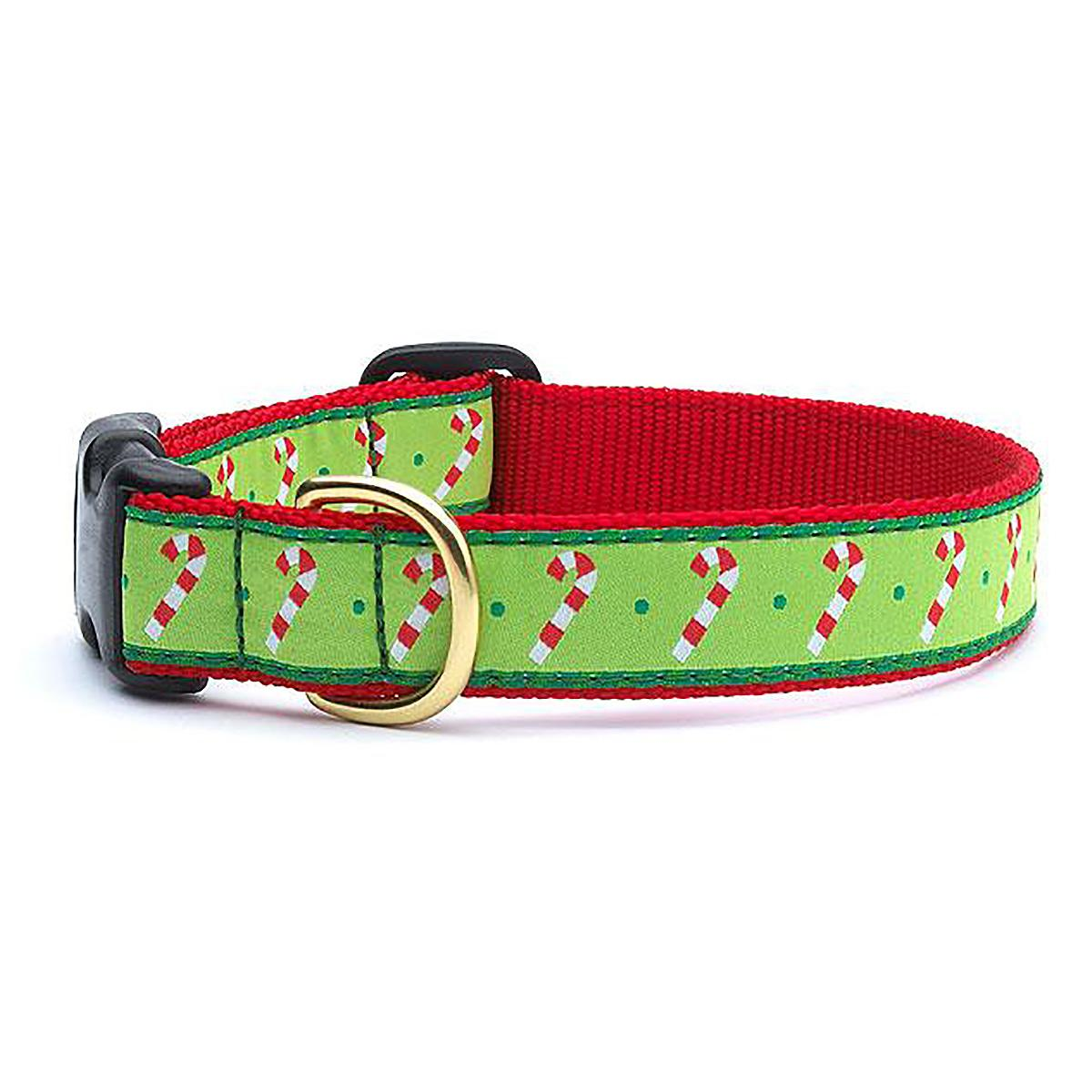 Candy Cane Dog Collar by Up Country