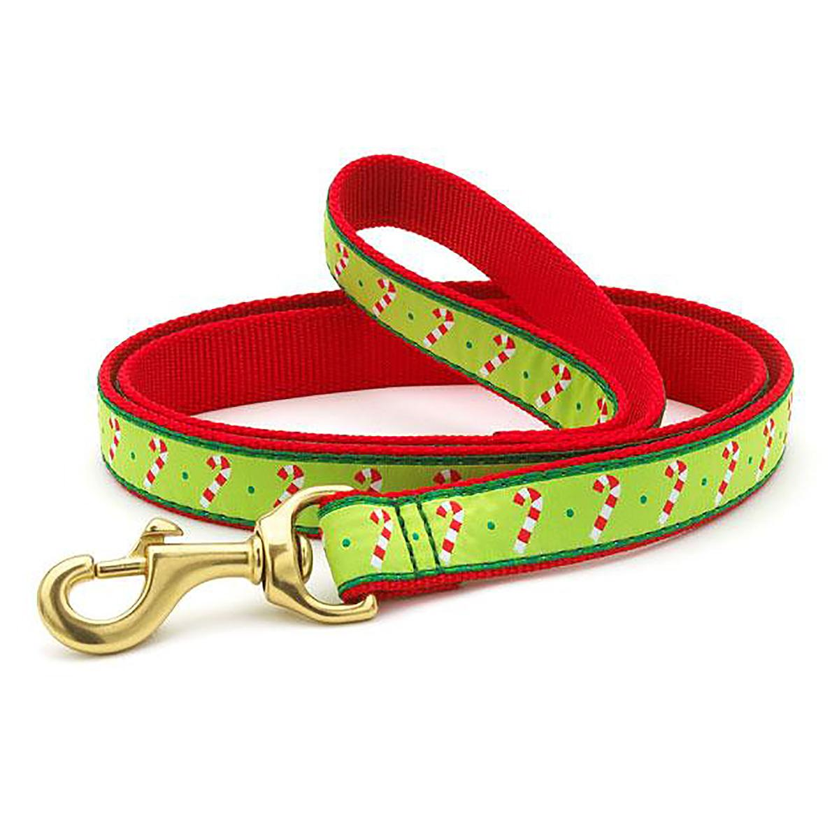 Candy Cane Dog Leash by Up Country
