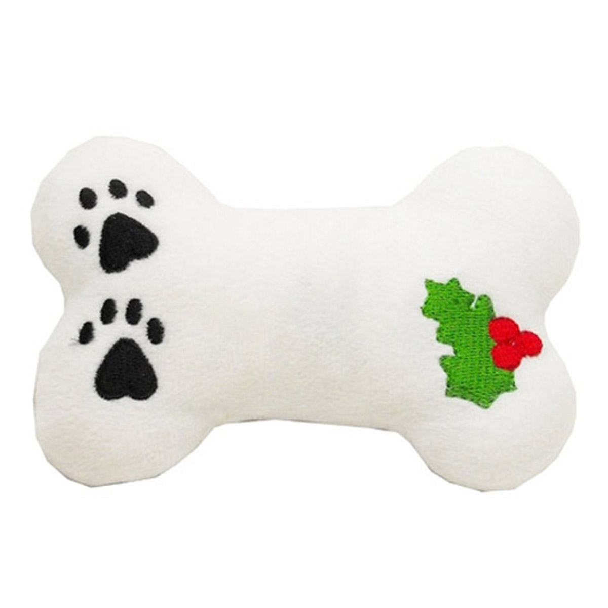 Christmas Plush Dog Toy - Holly Bone