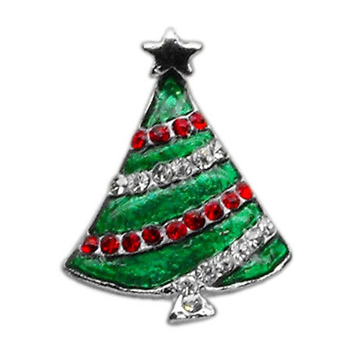 Christmas Slider Dog and Cat Collar Charm - Christmas Tree
