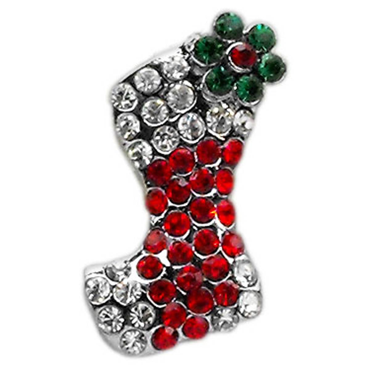 Christmas Slider Dog and Cat Collar Charm - Red Stocking