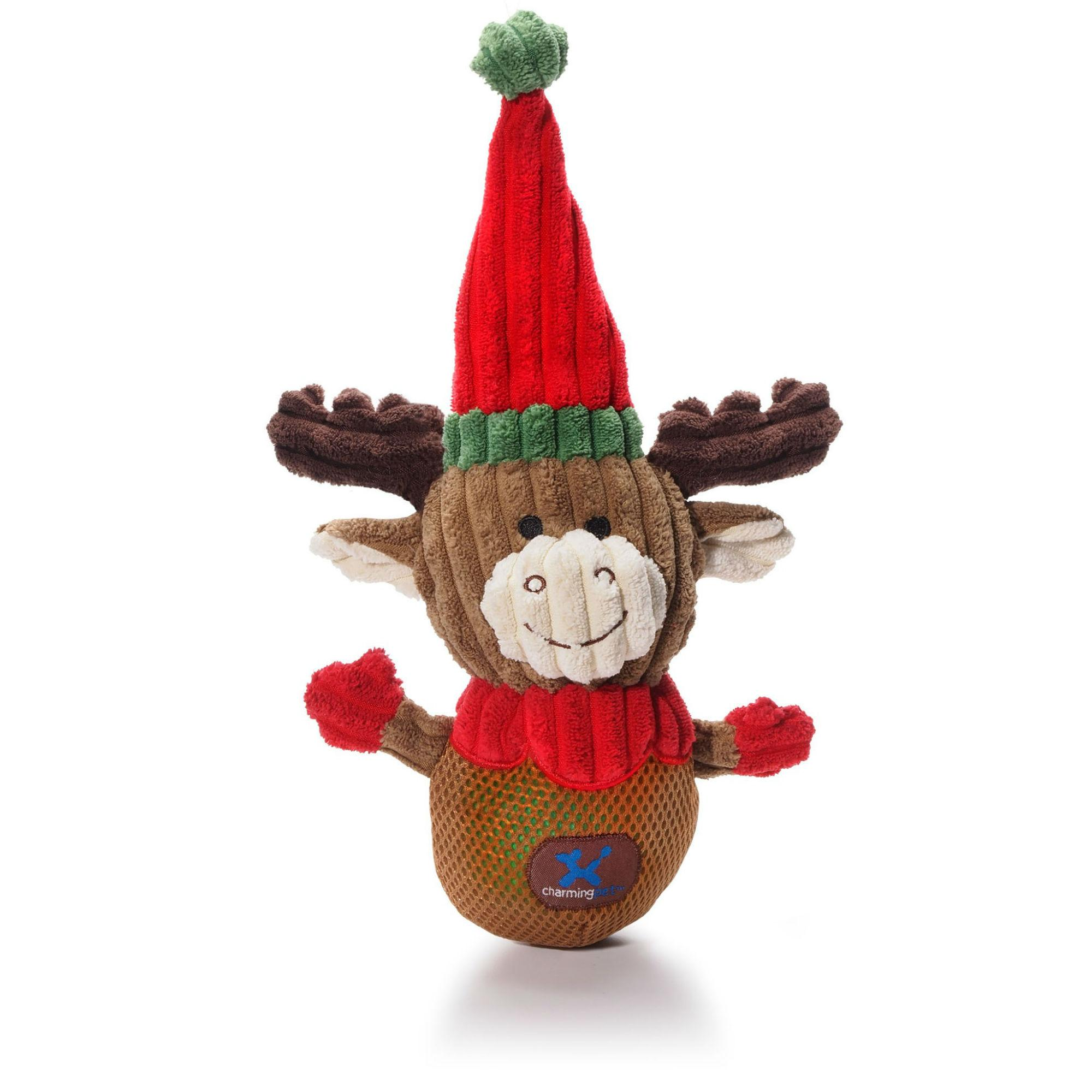 Christmas Snowballs Reindeer Dog Toy