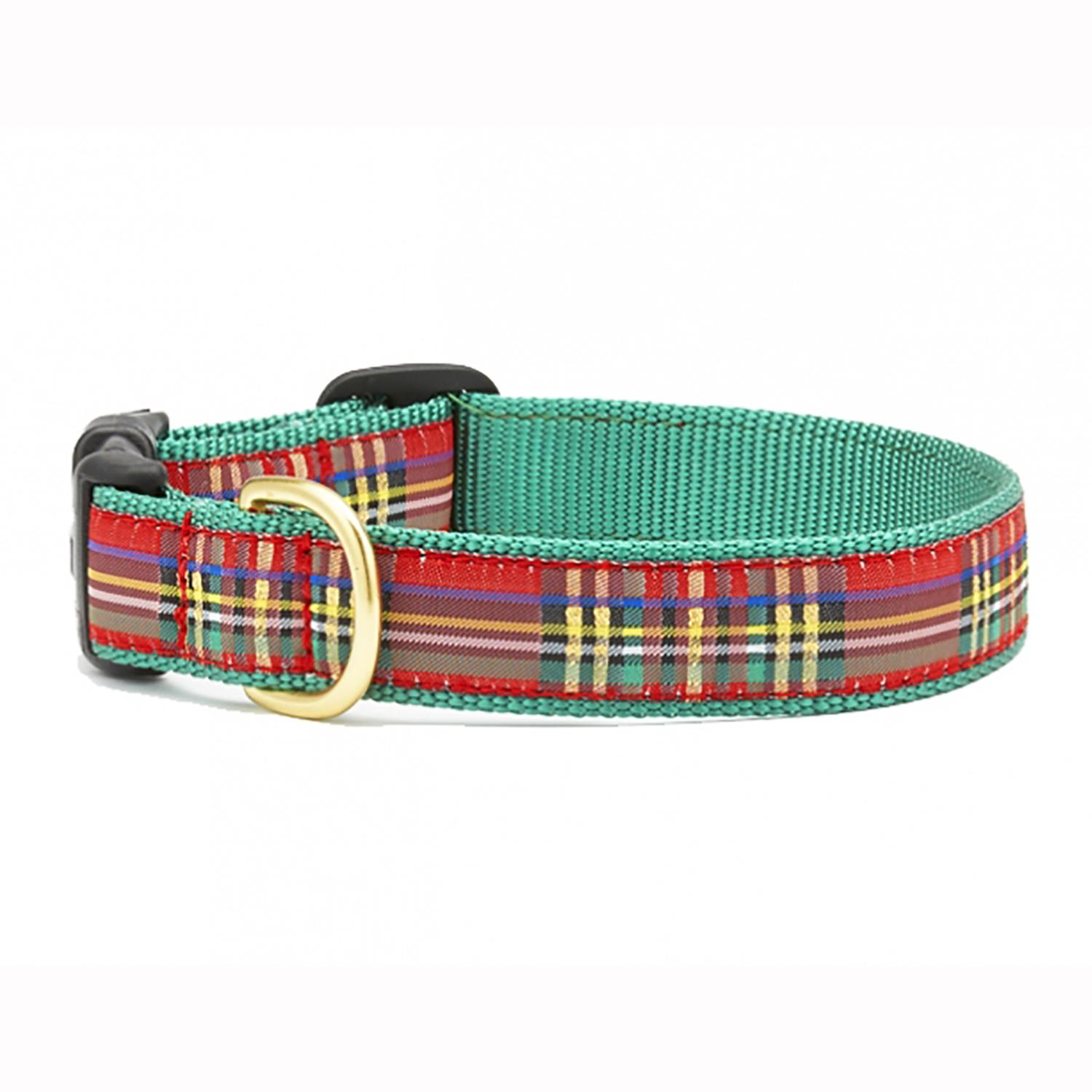 Christmas Sparkle Plaid Dog Collar by Up Country
