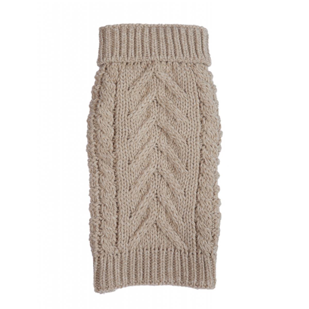 Chunky Turtleneck Dog Sweater - Oatmeal