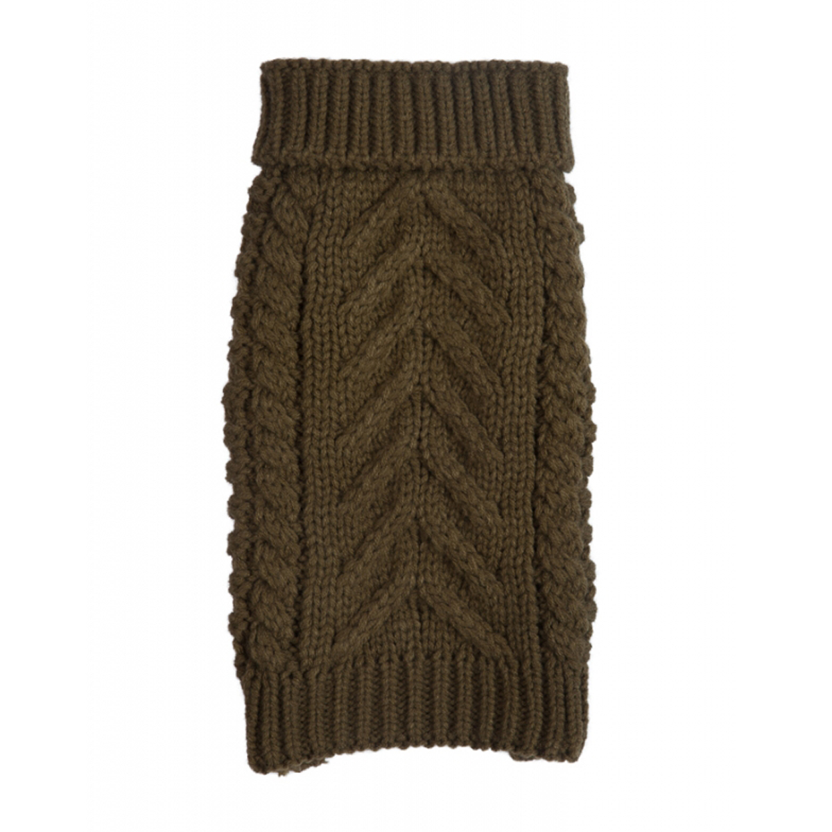 Chunky Turtleneck Dog Sweater - Olive